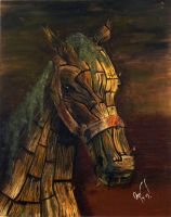 The Trojan horse by Irrelevantart