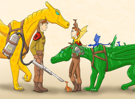 Young Dragonwizards of Pern by Azvolrien