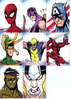 THOR Sketch Cards Set 1 by Bloodzilla-Billy