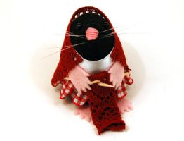 Lucy the Knitting Mole by The-House-of-Mouse