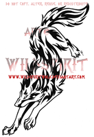 Rebellious Tribal Wolf Tattoo by WildSpiritWolf