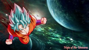 Majin Super Saiyan God Super Saiyan Goku by Friezy