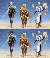 Numenera characters by Akeiron