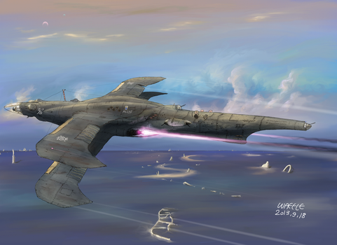 Kingdom of Fow's aerial destroyer Vizelve by AoiWaffle0608