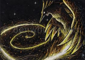 ACEO Spiraling Forth by benwhoski
