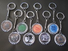 netrunner keychains by Rei2jewels