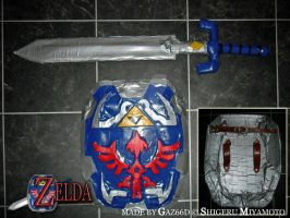 Hylian Shield + Master Sword by GazTV-inc
