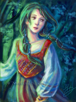 speed paint - girl in forest by MeredithDillman