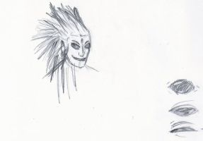 Magaki Studies - Head and Eyes by Jester-of-the-Clown