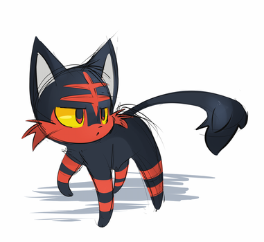 [Pokemon] Litten by Void-Shark