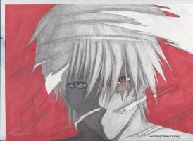 kakashi senpai -paper drawing by younesanimedrawing