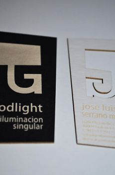Goodlight business cards by Laserlab21