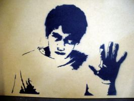Donnie Darko Stencil by Darko88
