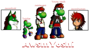 The Many Forms of AwsmYoshi by AwsmYoshi