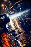 Raining street by TheLevenCreations
