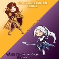 Leona and Diana Chibi by soiden135