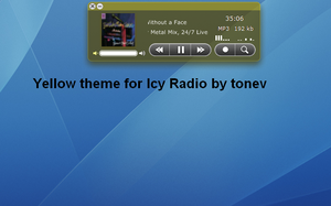 Yellow skin for Icy Radio by tonev