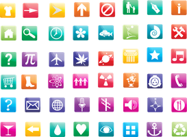 Rainbow Icons by InterGrapher