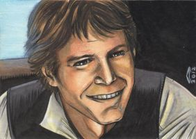 HAN SOLO 1 SKETCH CARD by AHochrein2010
