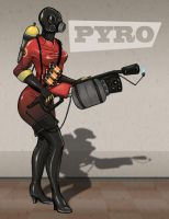 Female Pyro Red Team by shelldragon