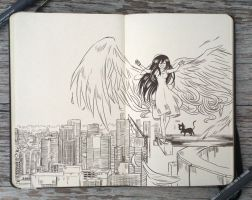 #92 On top of the world by 365-DaysOfDoodles