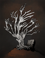 Graveyard Tree by WonderDookie