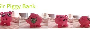 gir piggy bank by xanimexartxloverx