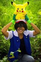 Stay in the grass! [Ash Ketchum Cosplay] by SakuraPamyu