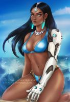 Beach party: Symmetra by Nindei