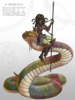 Medusa and her snake by Brett-Neufeld