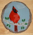 For sale (Handpainted Cardinal) Original painting by sparx222