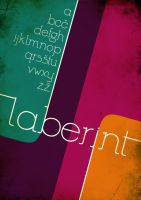 Laberint Font and Poster by Evoli-chan