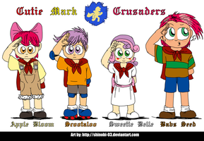 Human Ponies - Cutie Mark Crusaders by SHINOBI-03