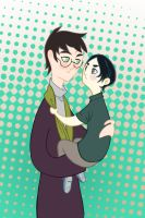 Harry and Little Sev by spicysteweddemon