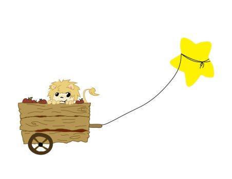 A Lion And An Apple Wagon by FeliChan172