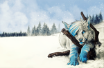 C .: Snowy Landscape :. by WhiteSpiritWolf