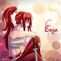 E standing for Erza by RizaLa