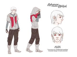 Character Design- Alex by Cuine