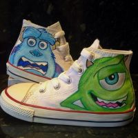 Monsters Inc Custom Converse by VeryBadThing