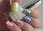 Rainbow Gradient with glitter and chevron by Ithfifi