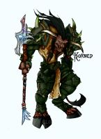 Korned the Druid- Color only by Trishields
