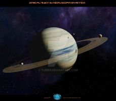 Gas Planet in Merveopia System by Turedi