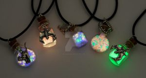 Halloween Necklaces by ArchandSoul