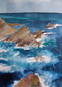 Watercolour Seascape by Mad-Margaret