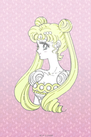 Princess Serenity Simple Wallpaper by LittleMirr