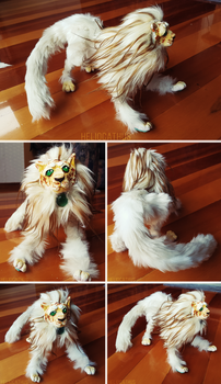 Cosmo the Solar Liger - OOAK Art Doll by Heliocathus