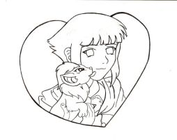 HInata With Neopet by PixlPhantasy
