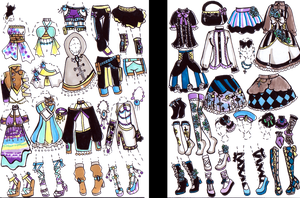 -CLOSED- Outfit package by Guppie-Adopts