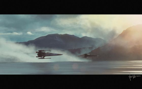 Star Wars: The Force Awakens - X-wings by JanTuts