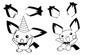 pichu party base by shadowxmephiles